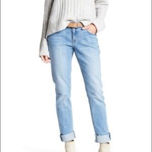 Derek Lam 10 Crosby Mid Rise Slim Girlfriend Jeans